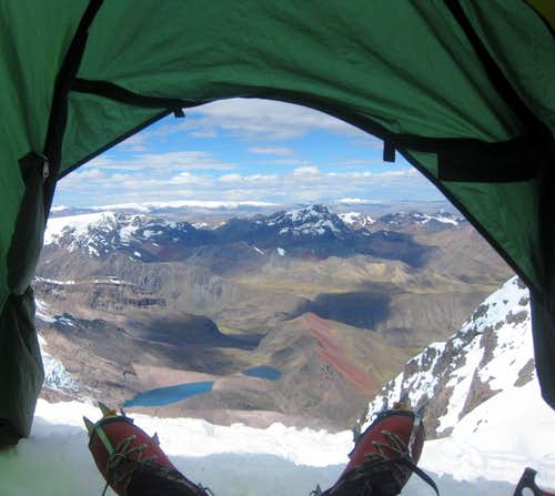 View from my tent at Ausangate high camp