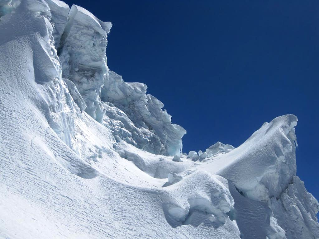 Detail of the icefall below high camp on Ausangate