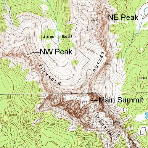 The Pinnacle Buttes-- Map 1
