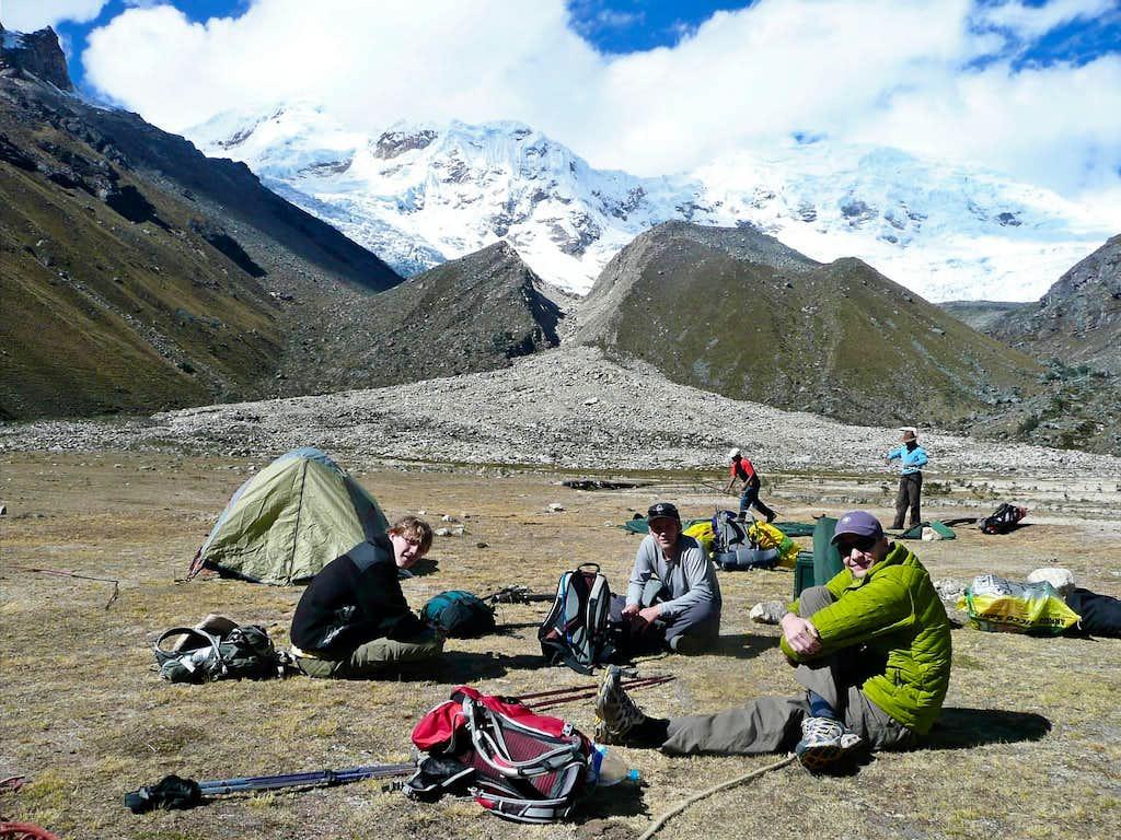 Inshinca Base Camp - resting