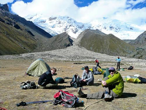 Inshinca Base Camp - resting