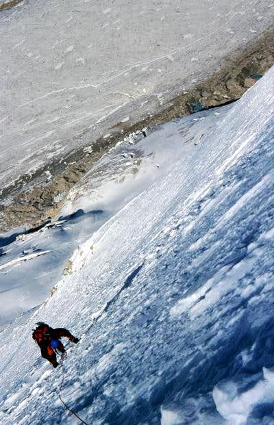 June 2003. Climbing the S-Face.