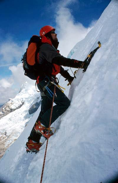 June 2003. Climbing the S-Face.