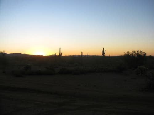 Sunrise in the Superstition Wilderness