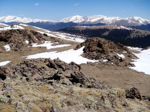 Views from the summit - toward Guanella Pass