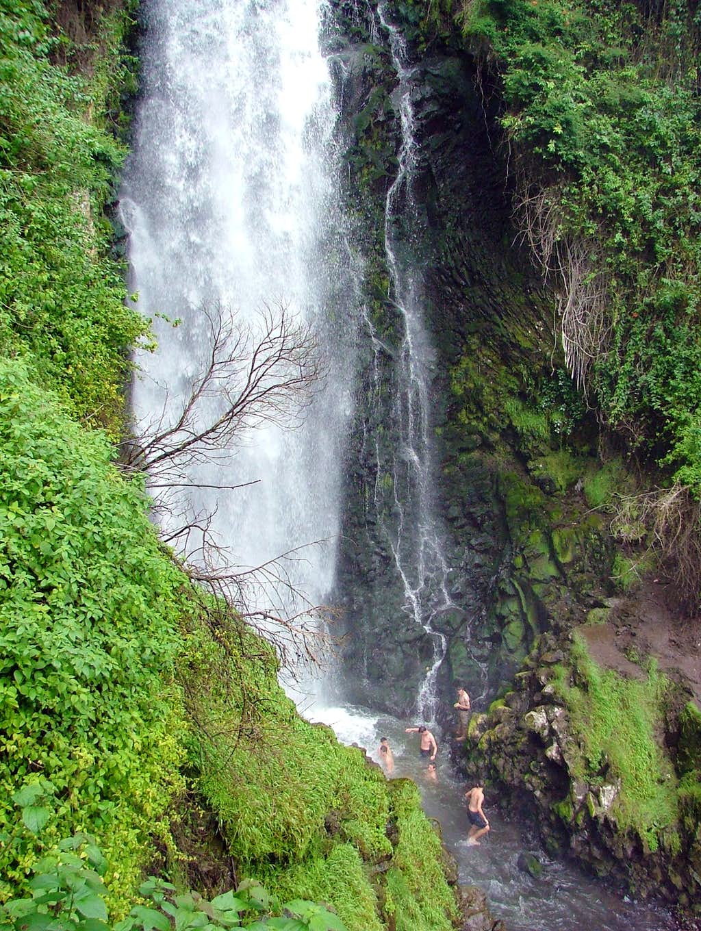 Peguche waterfall.