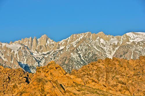 Whitney Group seen from The Alabama Hills