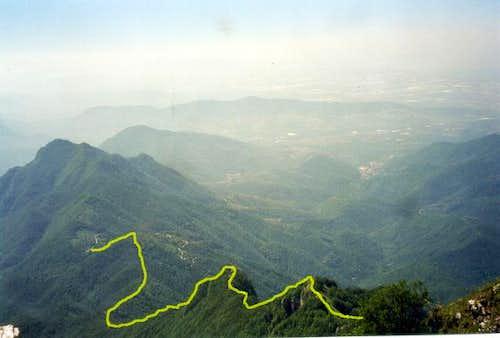 The route fron Varco della...
