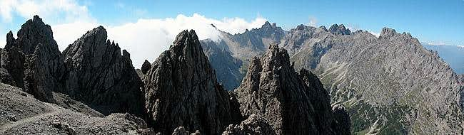 On the west face traverse -...