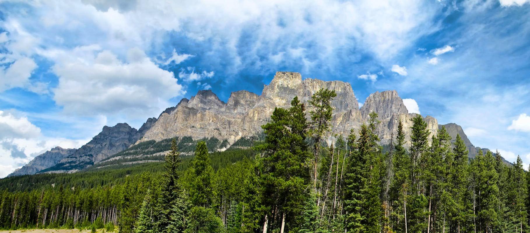 Castle Mtn Alberta Panorama Photos Diagrams Amp Topos Summitpost