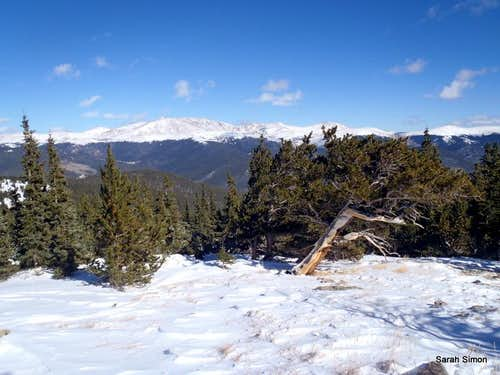 Mount Bierstadt and Mount Evans