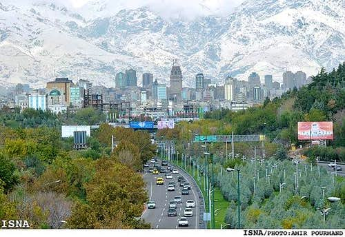 Tehran and the slopes of Mt. Tochal