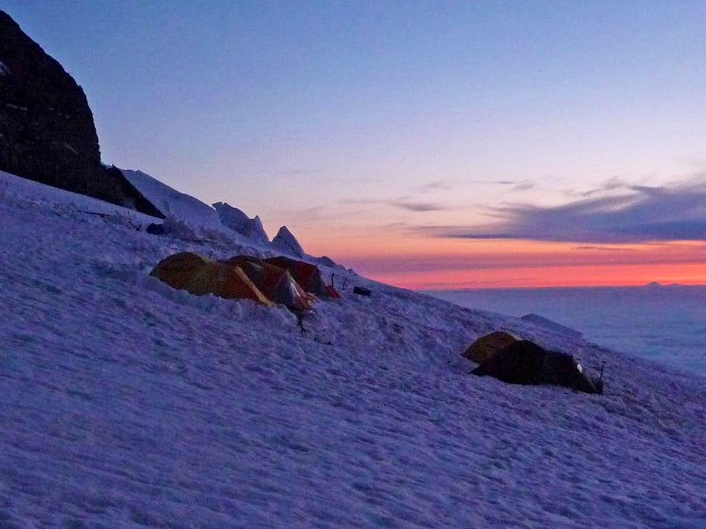 Ingraham Camp during Sunrise
