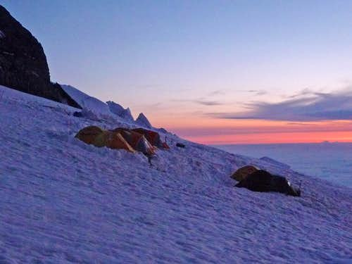 Ingraham Camp during Sunrise