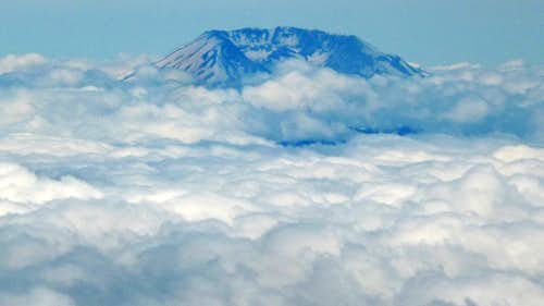 Mount Saint Helens Above the Clouds