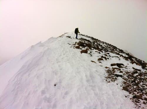 Almost to the summit, Mt Quandary 11/6/11