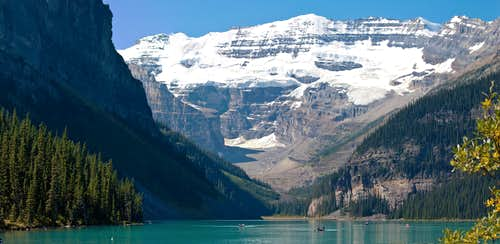 Lake Louise Panorama with Upper Victoria Glacier