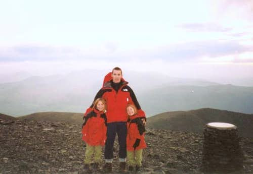 The summit of Skiddaw....