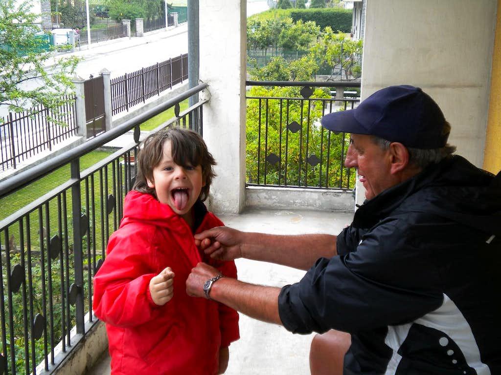 Little Grandpa & Pietro & the terrible WOLF of Les Drudzes