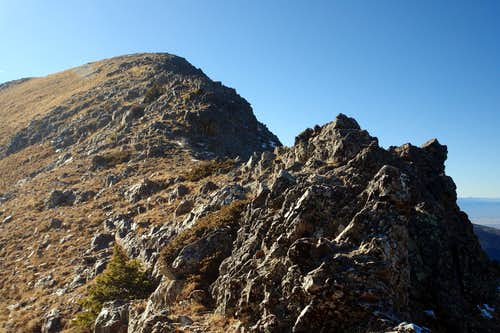 Approaching the summit of Pecos Baldy