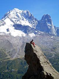 On the top of Aiguilette d'Argentine