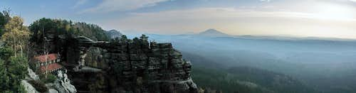 Panorama of Bohemian Switzerland