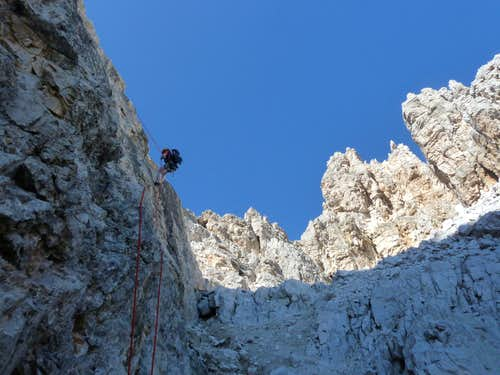 Abseiling Torre Lagazuoi