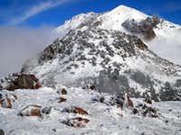 Ski Heil, Eagle and Lassen Peak,  snowshoe summit of Eagle, 11-12-2011