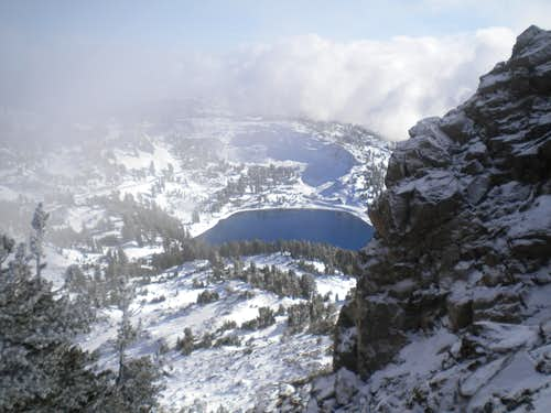 From Eagle Peak south face descent above Lake Helen, 11-12-2011