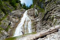 Waterfall near Jachenau (Bavaria)