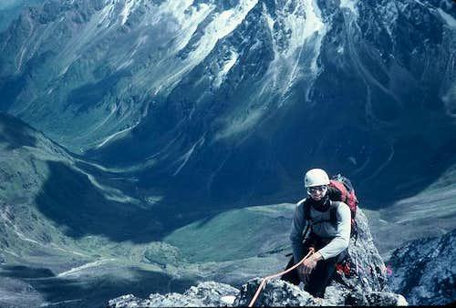Stephen high on the west ridge.