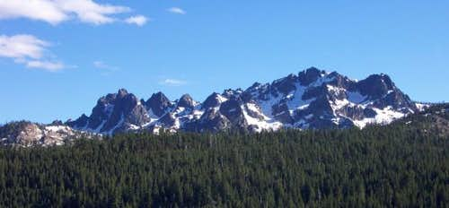 Sierra Buttes from the NNE. A...