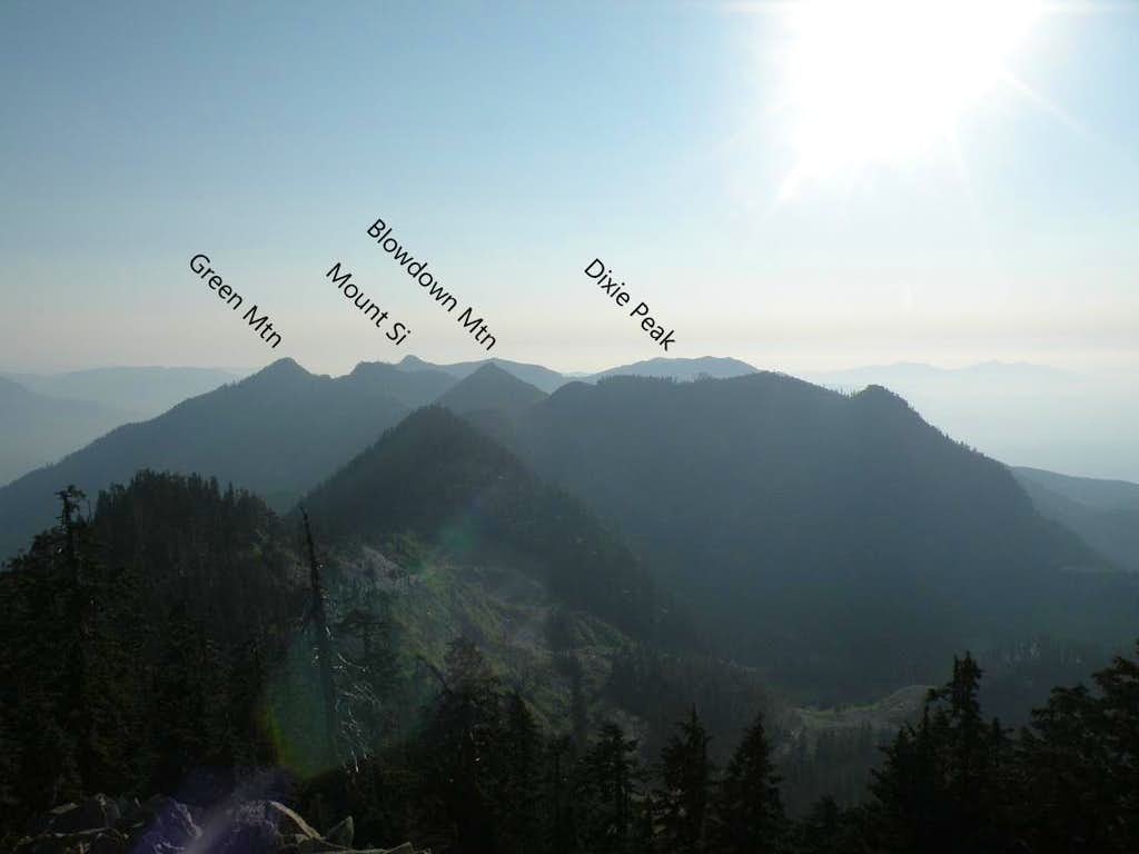 Mount Si NRCA from Moolock Mountain