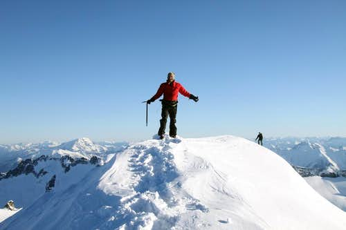 On Summit of Eldorado, Winter climb