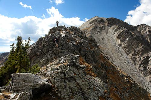 Traversing the lower NE Ridge