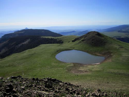 Lake below the summit