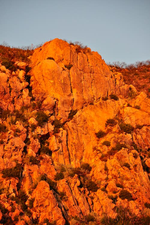 Upper Gibraltar Rock at sunset