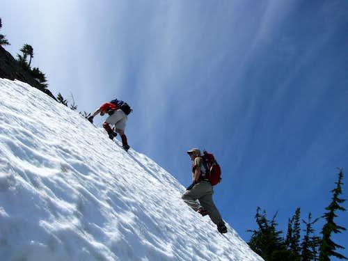 Just below summit of Lichtenberg Mountain
