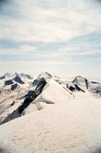 Breithorn facing Monte Rosa...