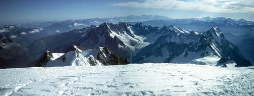 from the summit of Mont Blanc