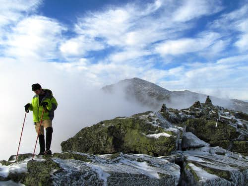 the summit of Mount Madison