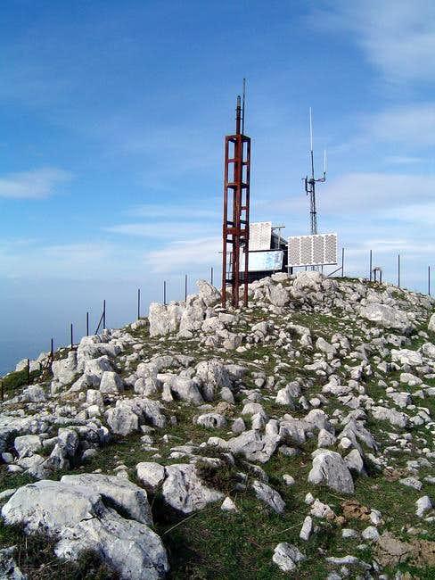 the peak of Mountain Terminio...