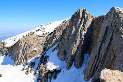 Lone Peak via Question Mark Wall.