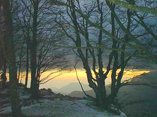 The sunset from Ripe Falconara
