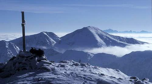 summit view to Rosennock and...