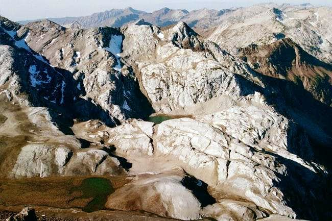 The rugged north ridges of...