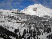 Lassen Peak with Eagle Peak in foreground, 11-19-2011