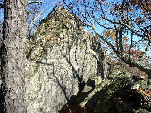 Sugar Knob Summit Rock