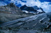 Mount Andromeda and glacier...