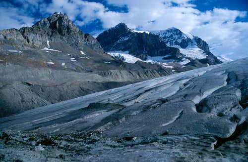 Mount Andromeda and glacier...